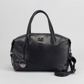 Сумка жен L-89798, 33*15*26, отд с перег на молнии, н/карман, длинн ремень, черный