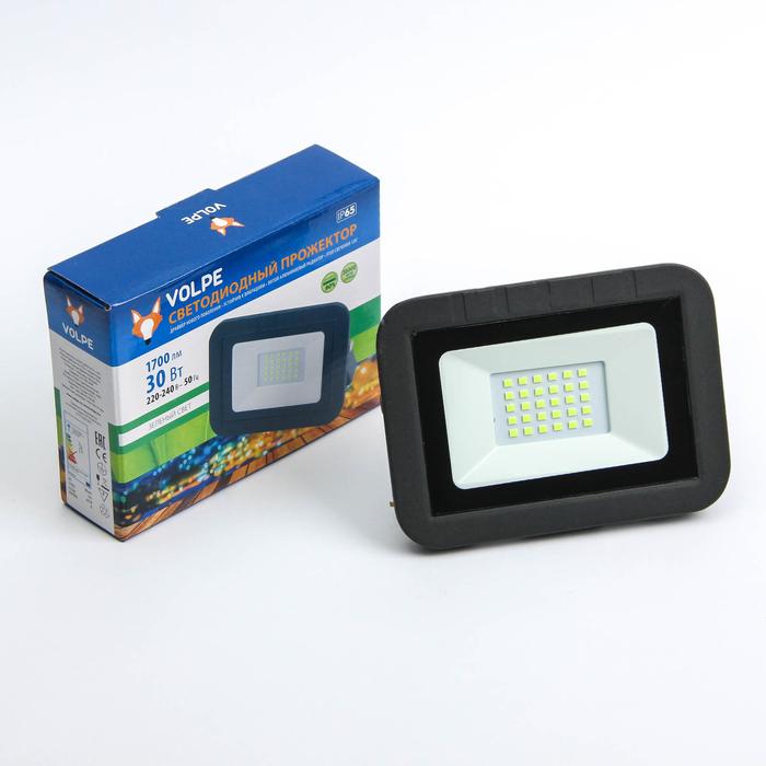 Прожектор светодиодный Volpe ULF-Q511, 30 Вт, 220 В, IP65, зеленый свет