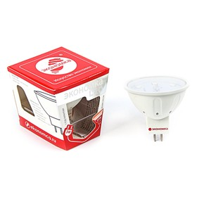 Лампа светодиодная ЭКОНОМКА, JCDR, GU5.3, 3 Вт, 230 В, 4500 K,   белый