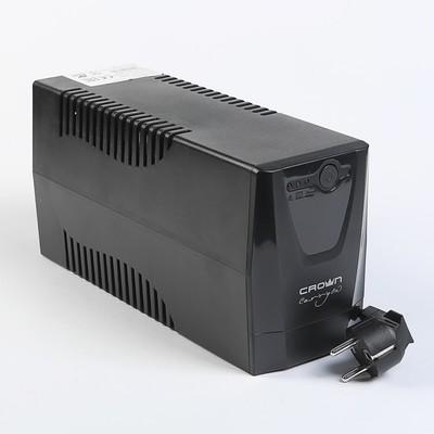 Источник бесперебойного питания Crown CMU-500X, 480 ВА, розетки IEC + Euro