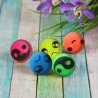 """Мяч каучук """"Рожицы"""" 2,4 см, цвета МИКС"""
