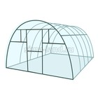 "Каркас теплицы ""Комфорт"", 6 х 3 х 2.1 м, металл, профиль 20 х 20 мм, без поликарбоната, 4 форточки, 2 двери"