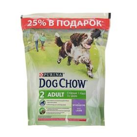 Акция!  Сухой корм DOG CHOW для собак, ягненок, 800 г