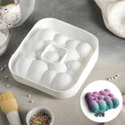 """Форма для выпечки и муссовых десертов 20х5,5 см """"Воздушные пузыри"""", цвет белый"""