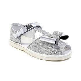 Туфли летние дошкольные праздничные арт. 3101, цвет серебристый, размер 27 (17 см)