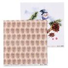"""Бумага для скрапбукинга """"Новый год. Снеговик и подарки"""" 30,5х30,5 см  190г/м2"""