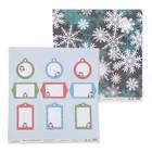 """Бумага для скрапбукинга """"Новый год. Бирки и снежинки"""" 30,5х30,5 см  190г/м2"""