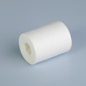 Рафия однотонная, белая, 5 мм х 200 м