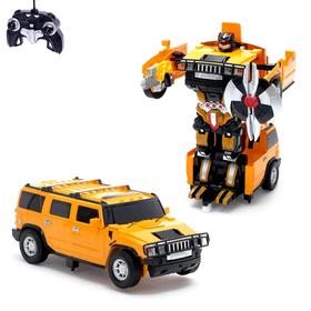 """Робот-трансформер радиоуправляемый """"Автобот"""", с аккумулятором, масштаб 1:14 МИКС mz 2323P"""