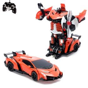 """Робот-трансформер радиоуправляемый """"Автобот"""", с аккумулятором, масштаб 1:22, МИКС mz 2333X"""