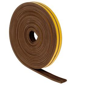 Уплотнитель для окон, профиль E, на клейкой основе, коричневый, в упаковке 10 м Ош