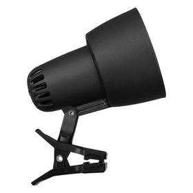 Светильник настольный на прищепке KT034В 1 лампа Е27 60Вт  черный
