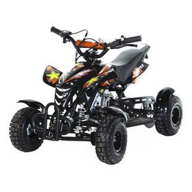 Мини-квадроцикл MOTAX ATV H4 mini-50 cc, черно-оранжевый Ош