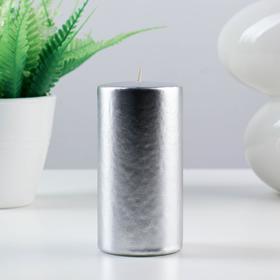 Свеча Цилиндр 50 Н-100 парафин серебро