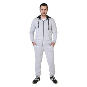 Костюм спортивный мужской (толстовка, брюки) Чемпион цвет серый, р-р 44