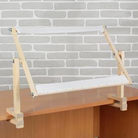Пяльцы-рамка 34*55см с креплением к столу, дерево/текстиль Ош