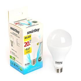 Лампа cветодиодная Smartbuy, A80, E27, 20 Вт, 3000 К, теплый белый