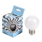 Лампа светодиодная декоративная Luazon, Шарик d=60 мм, 6 SMD2835, БЕЛЫЙ