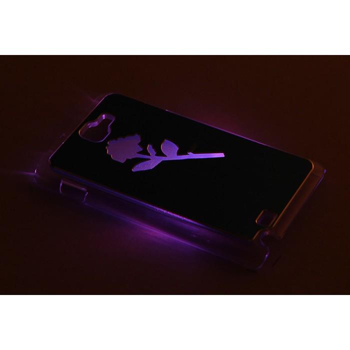 """Чехол для задней панели Samsung Galaxy Note, 9220, с подсветкой """"Цветы"""", МИКС"""