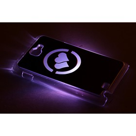 """Чехол для задней панели Samsung Galaxy Note, 9220, с подсветкой """"Два сердца"""", МИКС"""