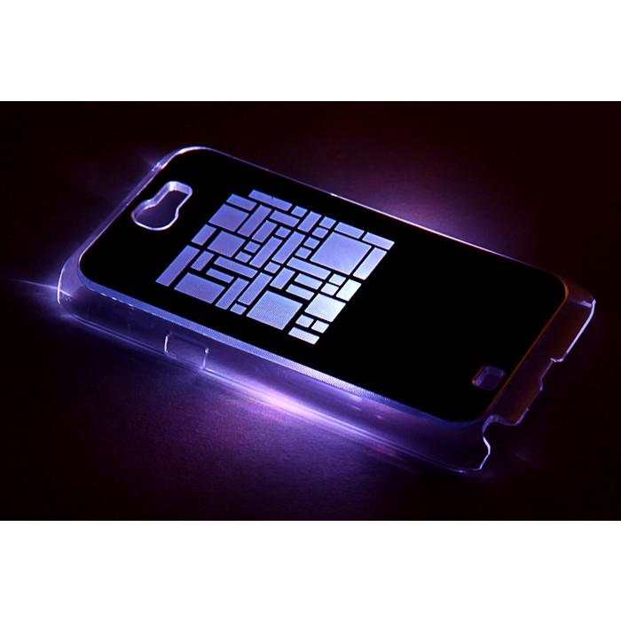 "Чехол для задней панели Samsung Galaxy Note 2, 7100, с подсветкой ""Геометрия"", МИКС"