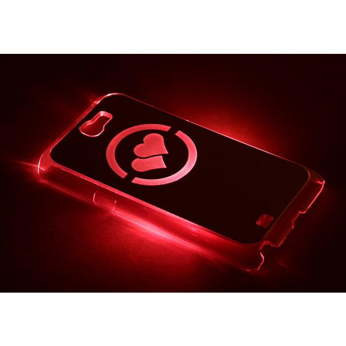 """Чехол для задней панели Samsung Galaxy Note 2, 7100, с подсветкой """"Два сердца"""", МИКС"""