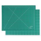 Мат для резки двухсторонний, 60*45см, формат А2, цвет зеленый, AU-A2