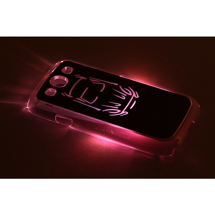 """Чехол для задней панели Samsung Galaxy S3, 9300, с подсветкой """"Машина"""", МИКС"""