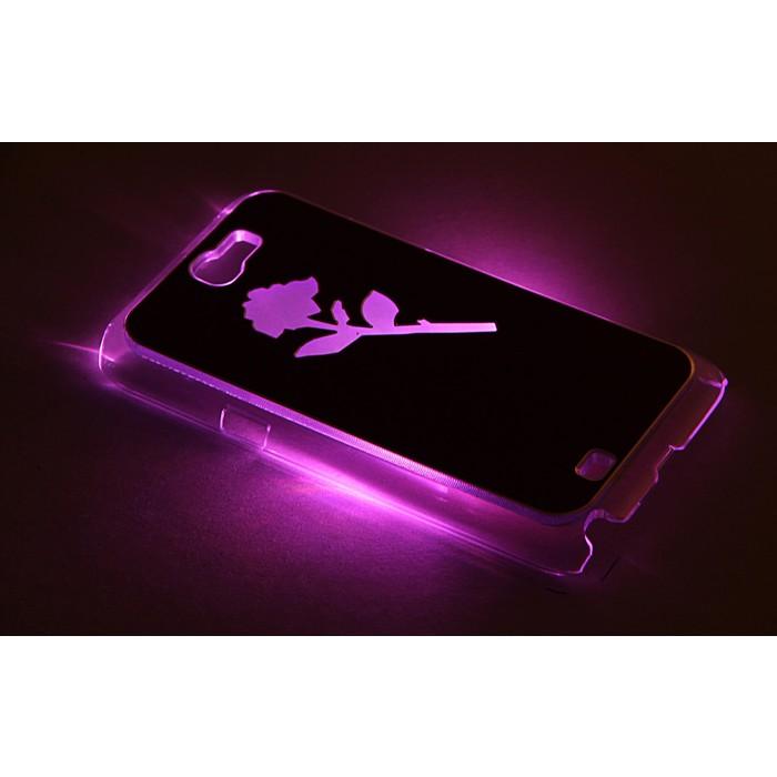 "Чехол для задней панели Samsung Galaxy Note 2, 7100, с подсветкой ""цветок"", МИКС"