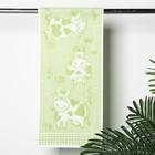 Полотенце махровое Happy cow ПЛ-2702-3072, 30х70,цв.20000, зеленый, хл.100%, 420 г/м2