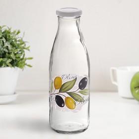 Бутылка с крышкой 500 мл 'Оливки' Ош