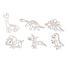 Витражи - мини  6 шт.:Динозавры SDOPP-S9