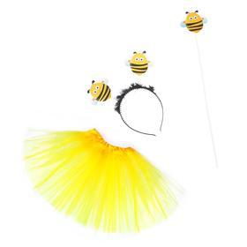 """Карнавальный набор """"Пчёлка"""": ободок, юбочка, волшебная палочка"""