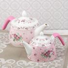"""Набор чайников """"Рондо"""", 2 шт, цвет розовый"""