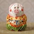 Колокольчик «Свинка», 8х8х10 см, ярославская майолика