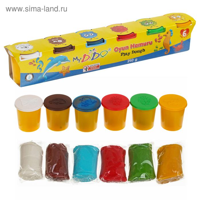 Тесто для лепки, 6 цветов по 40 гр MYDIDO