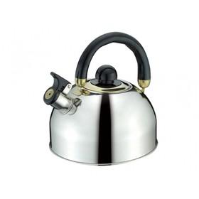 Чайник со свистком Peterhof, ручка из термостойкого черного пластика, 2,5 л
