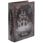 """Шкатулка-книга дерево """"Странствующий корабль"""" 23х17х6 см"""