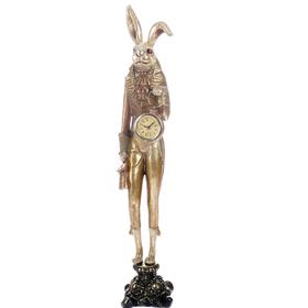 "Сувенир полистоун ""Английский шарж Заяц с часами в золотом камзоле"" 53,7х9х10 см"