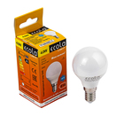 Лампа светодиодная Ecola Light, G45, E14, 4,0 Вт, 2700K, 220 В, шар, 77x45