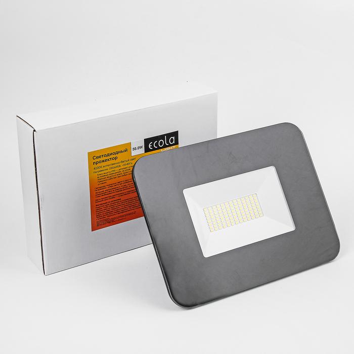 Прожектор светодиодный Ecola Light, 50,0 Вт, 4200K, 220 В, IP65