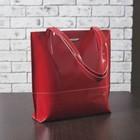 Сумка женская на молнии, 1 отдел, наружный карман, цвет красный гладкий шик/кайман шик