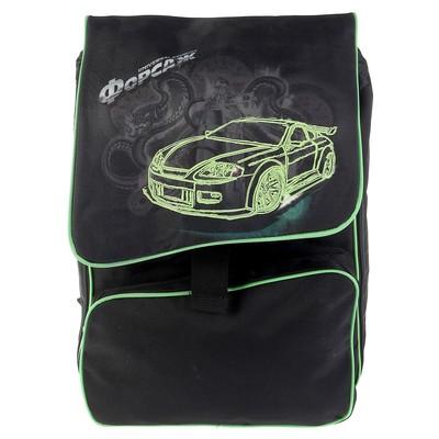 Рюкзак школьный эргономичная спинка для мальчика Proff 48*28*12 «Форсаж», чёрный FF16-BPA-02-02