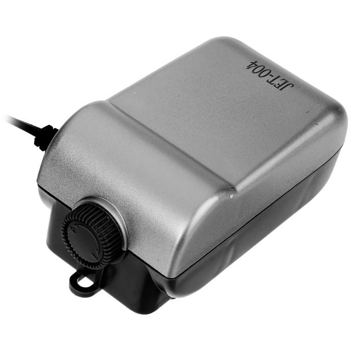 Компрессор KW JET-004 двухканальный, с регулировкой 2.7 Вт, 2.4 л/мин,1.3-1.6 м