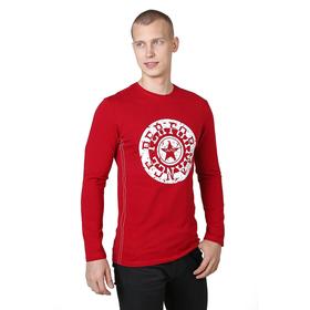 Футболка с длинным рукавом мужская М-9329 цвет бордовый, р-р 48