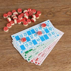 """Игра настольная """"Лото"""", набор: карточки, фишки с номиналом"""