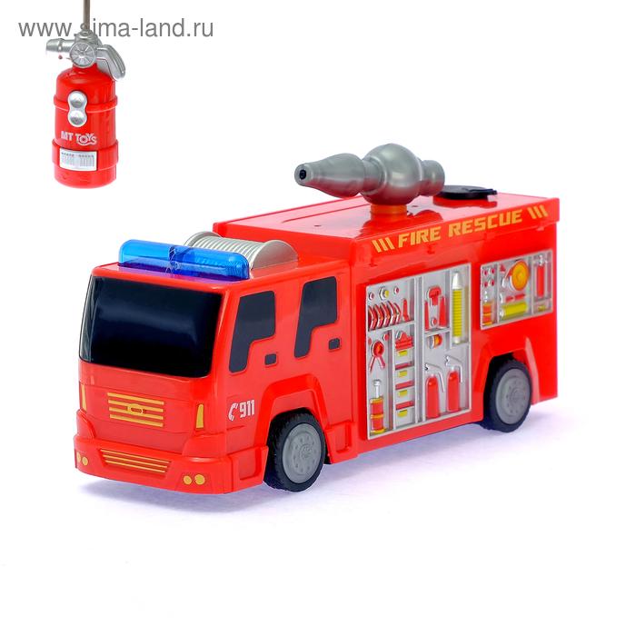 """Машина радиоуправляемая """"Пожарная охрана"""", стреляет водой, работает от батареек"""