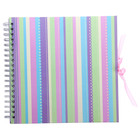 Фотоальбом 25 листов на пружине Innova Scrapbook - Glitter spots/stripes, МИКС