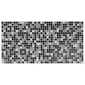 Панель ПВХ Мозаика чёрная 955*480 мм