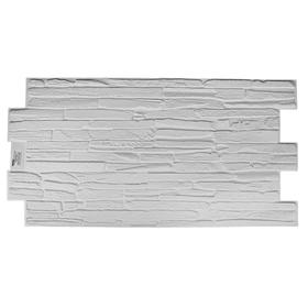 Панель ПВХ Кварцит белый 980х500